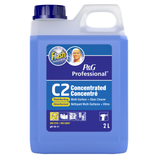 Flash Professional C2 Concentrated Disinfecting Multi-Surface + Glass Cleaner 2L