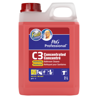 Flash Professional C3 Concentrated Disinfecting Bathroom Cleaner 2L