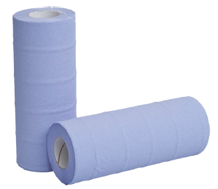 10 Couch Roll 2Ply Blue 50M