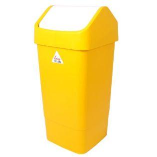 Flip Top Bin 50L Yellow