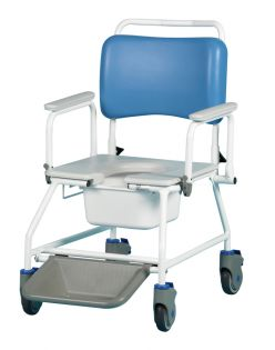 Atlantic Commode and Shower Chair: 3-in-1 Bariatric