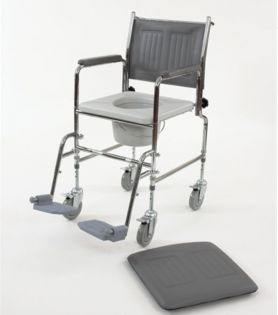 Adjustable Height Mobile Commode