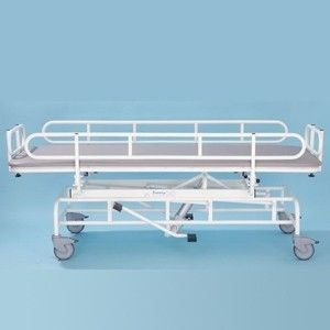 Adjustable Height, Cot Sides & Padded Base Shower Trolley