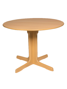 Pedestal Dining Table 1020mm Round, Natural