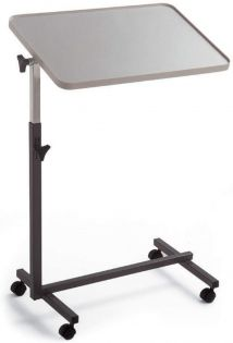 Plastic Top Overbed Table With Castors