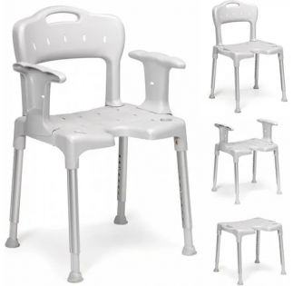 Etac Swift Adjustable Shower Chair Grey