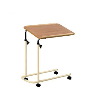 Laminate Top Overbed Table With Castors