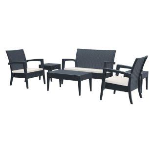 Florida Lounge Set - Dark Grey, Brown or White