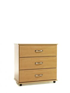 Europa Fusion: 3 Drawer Wide Chest