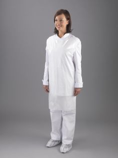 UK Made, White Flat-Pack Aprons Deluxe