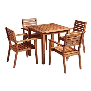 Hardwood Dining set with Four Armchairs