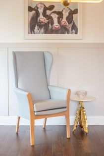 Madrid Ice Blue High Back Chair