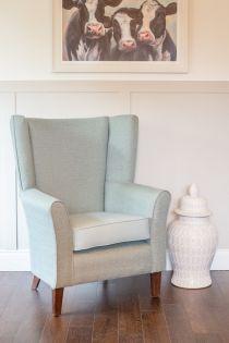 Mayfair Duck Egg High Back Chair