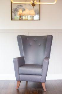 Artbourne Diamond Slate High Back Chair