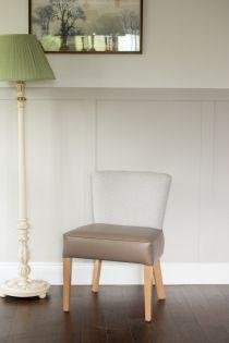 Kenwood Greige Herringbone Side Chair