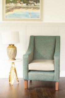 Hilton Teal Design High Back Chair