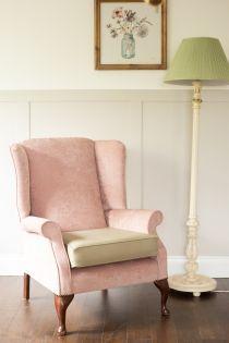 Grace Blush Pink High Back Chair