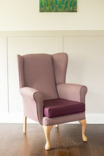 Richmond Mulberry High Back Lounge Chair