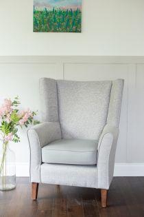 Mayfair Grey High Back Chair