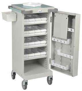 Drug Trolley With 16 Patient Trays