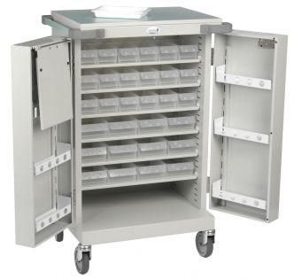 Drug Trolley With 24 Patient Trays
