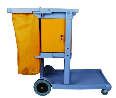 Replacement Vinyl Bags For Janitor Cart: Qty 10