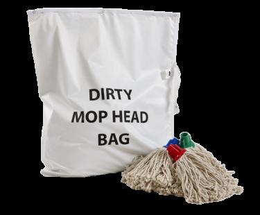 Washable Mop Head Bag White