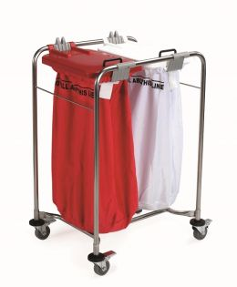 2 Bag Laundry Cart