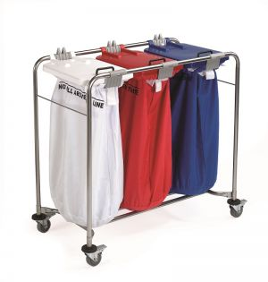 3 Bag Laundry Cart