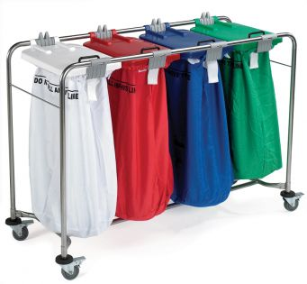 4 Bag Laundry Cart