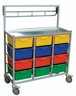 Combi 3 Tier, 12 Trays Karri-Cart (EXCLUDING HANGING RAIL)