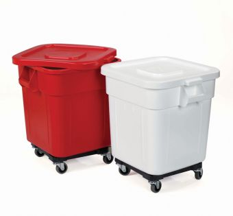 Huskey Square Container 140L: Red