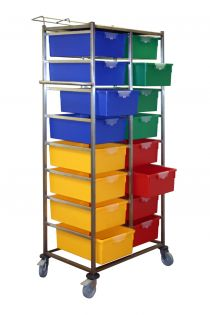 2 Tier, 16 Trays Karri-Cart