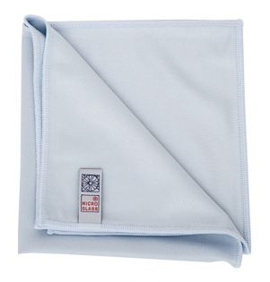 Microfibre Glass Cleaning Cloth Blue