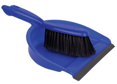 Janitorial Dust Pan And Brush Blue