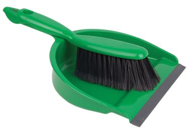Janitorial Dust Pan And Brush Green