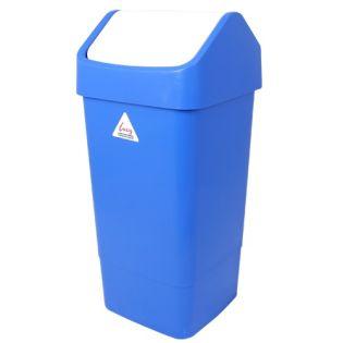 Flip Top Bin 50L: Blue