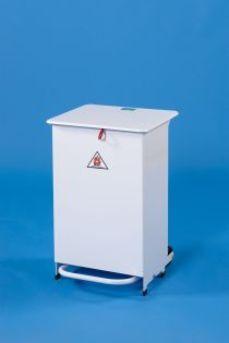 Metal Pedal Operated Bin 50L: Yellow