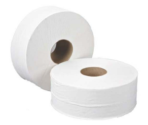 Mini Jumbo Toilet Rolls White 60Mm Core