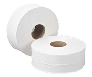 Mini Jumbo Toilet Rolls White 76Mm Core