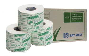 Bay West Ecosoft 2Ply Toilet Roll 625Sheet