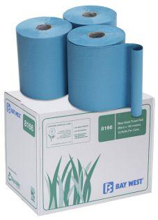 Bay West Blue 1Ply Embossed Hand Towel