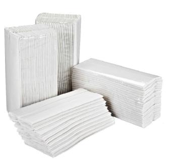 C-Fold White Handtowel Flushable